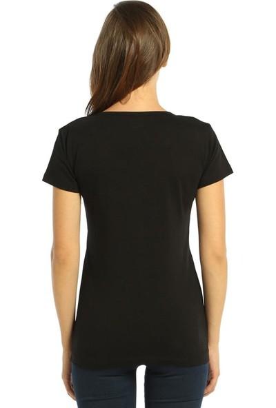 Bant Giyim Aziz Siyah Kadın T-Shirt