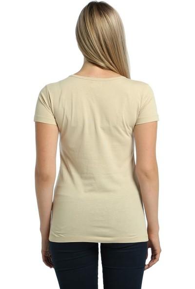 Bant Giyim Gitarist Krem Kadın T-Shirt