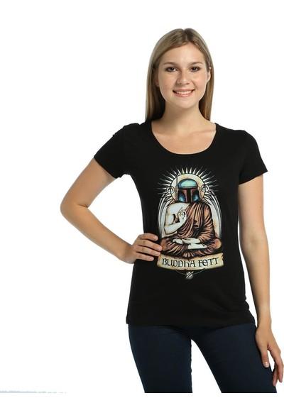 Bant Giyim Star Wars Boba Fett Siyah Kadın T-Shirt