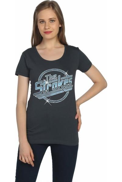 Bant Giyim The Strokes Retro Füme Kadın T-Shirt