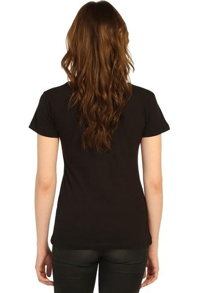 Bant Giyim Led Zeppelin Siyah Kadın T-Shirt