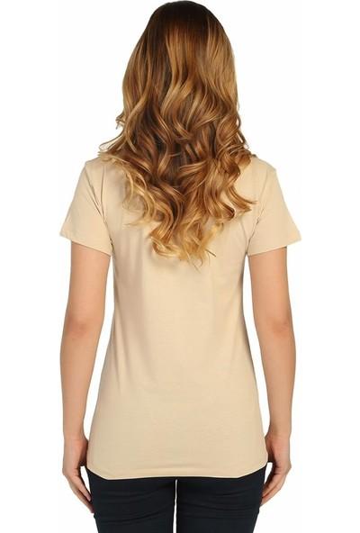 Bant Giyim The Strokes Retro Krem Kadın T-Shirt