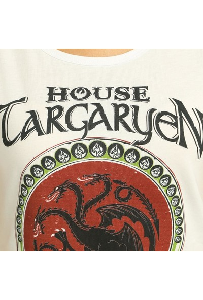 Bant Giyim Game Of Thrones Beyaz Kadın T-Shirt