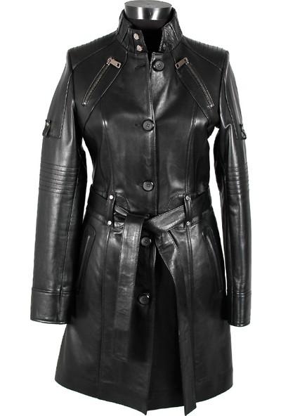 Gön Deri Kadın Trenchcoat D4509