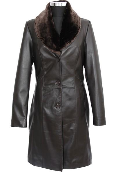 Gön Deri Kadın Trenchcoat D4521