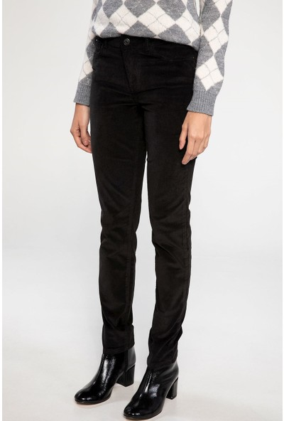 Defacto Kadın Rebeca Skinny Kadife Pantolon