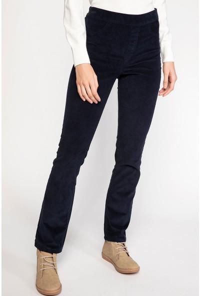 Defacto Kadın Carmela Straight Fit Kadife Pantolon