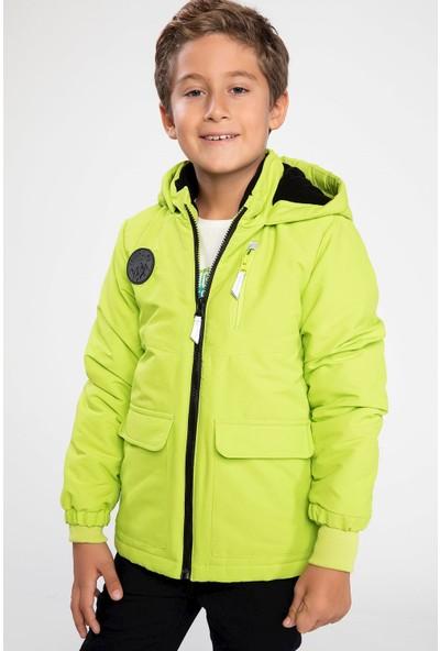 Defacto Erkek Çocuk Kapşonlu Neon Mont
