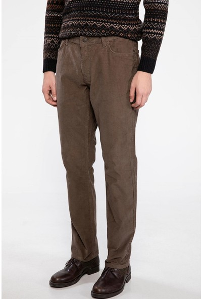 Defacto Erkek Fitilli Kadife Regular Fit Pantolon