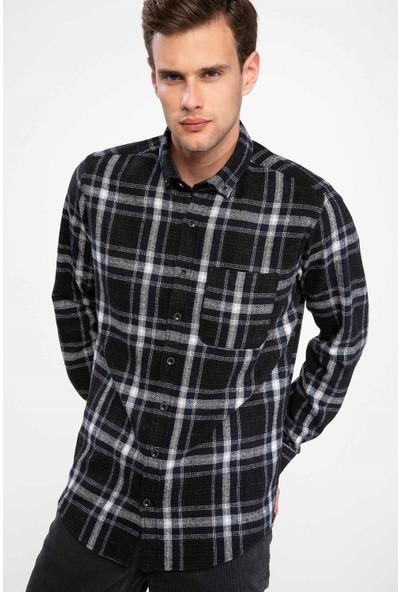 Defacto Erkek Modern Fit Kareli Gömlek