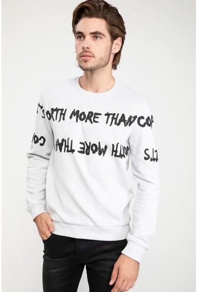 Defacto Erkek Baskılı Sweatshirt