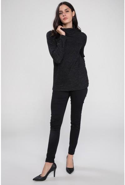 Defacto Kadın Uzun Kollu Boğazlı Basic T-Shirt