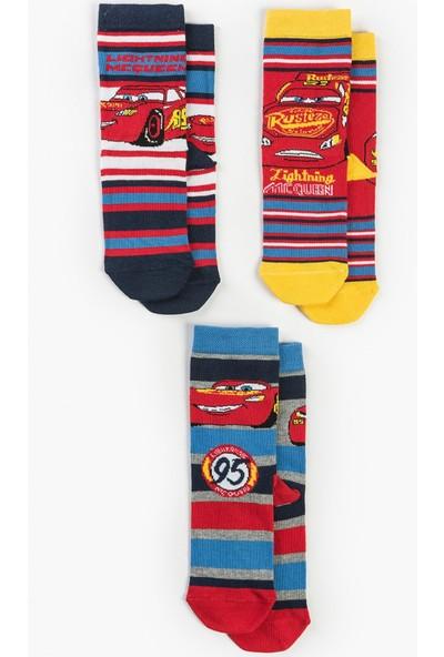 Disney Cars Çocuk 3'lü Çorap 13643