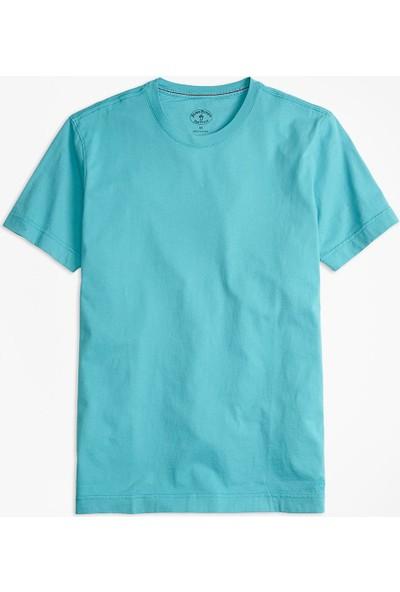 Brooks Brothers Red Fleece Logolu Bisiklet Yaka T-Shirt