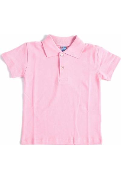 Alm Pembe Kısa Kol 6-16 Yaş Okul Çocuk Lakos Tişört/T-Shirt - 80238-003