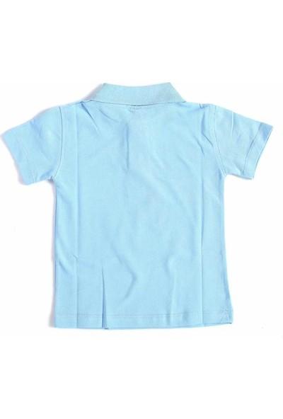 Alm Mavi Kısa Kol 6-16 Yaş Çocuk Okul Lakos Tişört/T-Shirt --80238-004