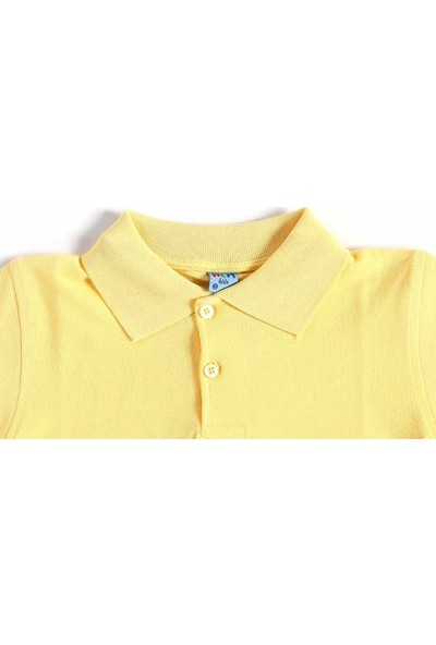 Alm Sarı Kısa Kol 6-16 Yaş Çocuk Okul Lakos Tişört/T-Shirt - 80238-006