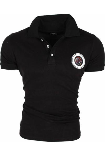Black Kavier 856 Slim Fit Polo Yaka Siyah