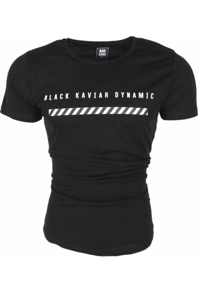 Black Kavier Dynamic Slim Fit Likralı T-Shirt Siyah