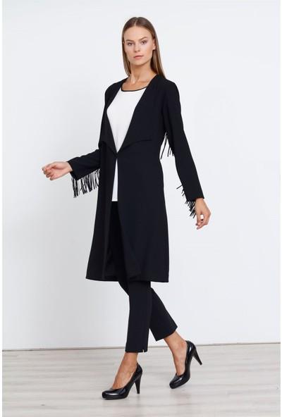 Moda İlgi Senti Tunik Siyah