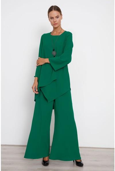 Moda İlgi Senti Tunik Yeşil