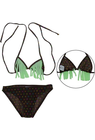 Asmay Kız Çocuk Bikini Mayo Üçgen 1-12 Yaş 7902-01