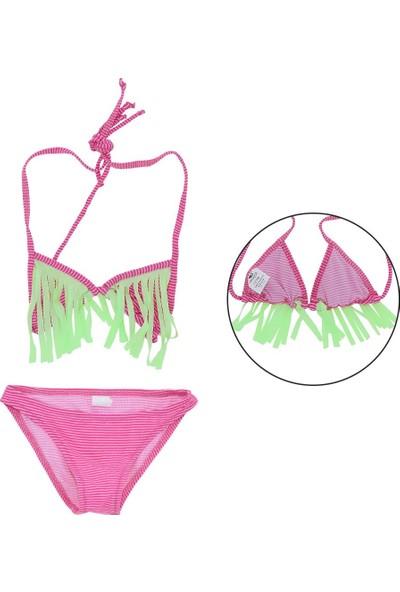 Asmay Kız Çocuk Bikini Mayo Üçgen 1-12 Yaş 7902-02