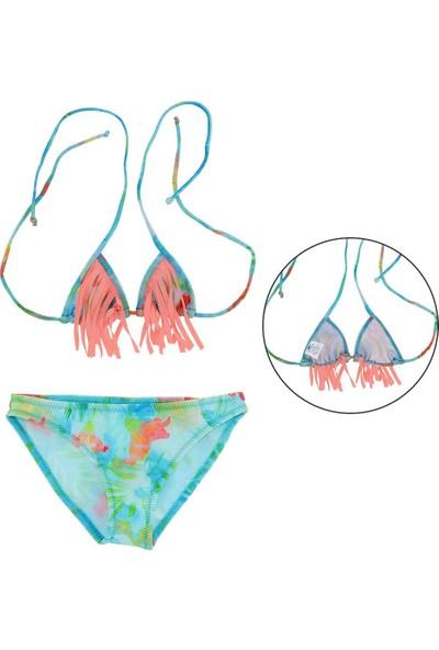 Asmay Kız Çocuk Bikini Mayo Üçgen 1-12 Yaş 7902-04