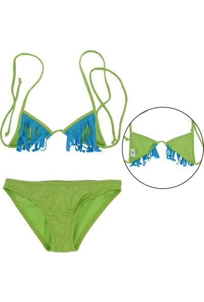 Asmay Kız Çocuk Bikini Mayo Üçgen 1-12 Yaş 7902-05