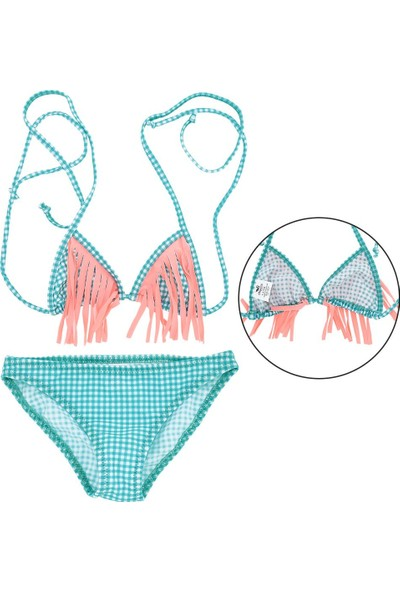 Asmay Kız Çocuk Bikini Mayo Üçgen 1-12 Yaş 7902-07