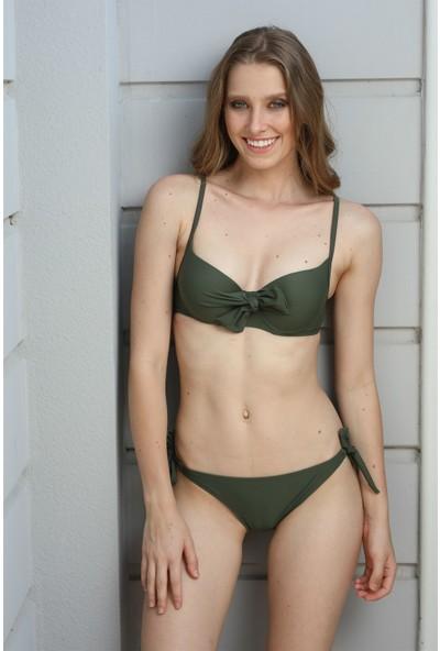 Spenza Swimwear Düğüm Detaylı Haki Bikini Takımı