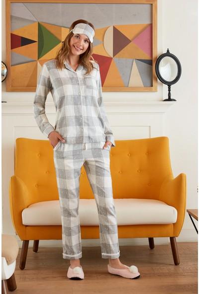Pierre Cardin Kadın Gömlek Pijama Takımı Ekose