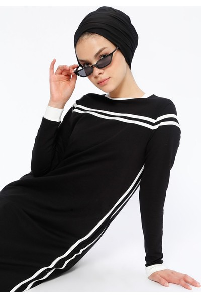 Benin Cep Detaylı Elbise - Siyah