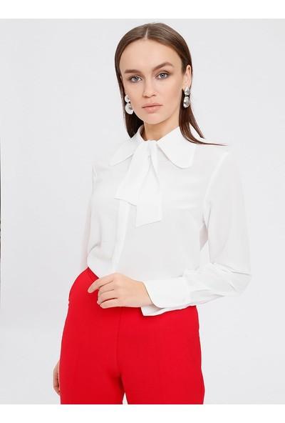 Fashion Light Gizli Düğmeli Gömlek - Beyaz