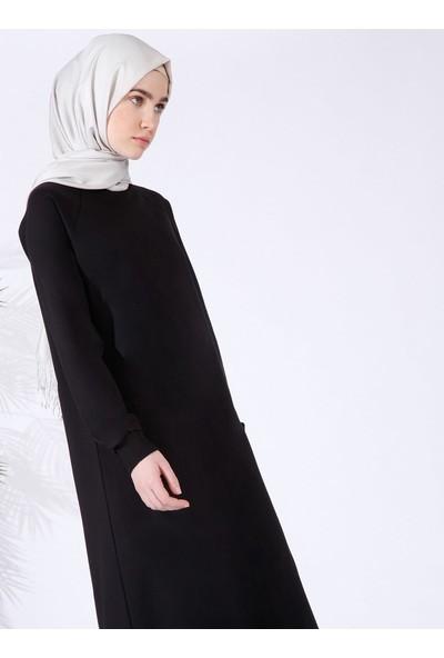 Everyday Basic Düz Renk Spor Elbise - Siyah
