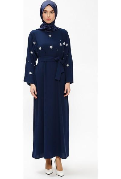 Tuncay Taşlı Salaş Elbise - Lacivert