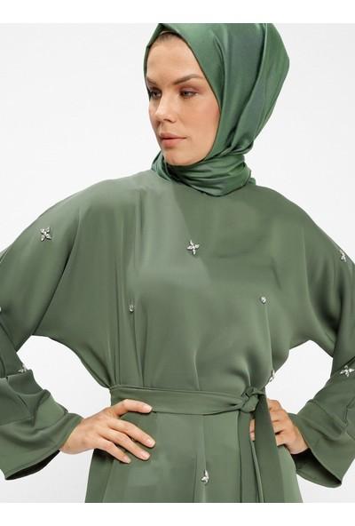 Tuncay Taşlı Elbise - Haki