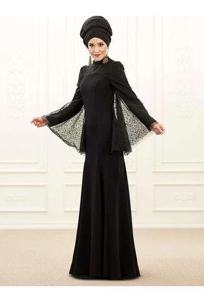 An-Nahar Mina Abiye Elbise - Siyah