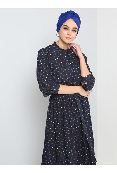 Benin Puantiyeli Elbise - Siyah