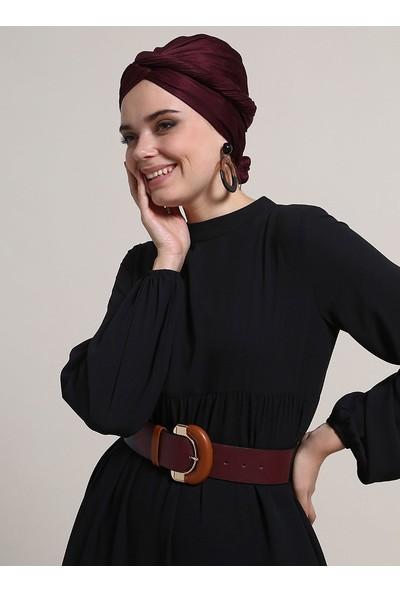 Refka Kol Ucu Lastikli Elbise - Siyah