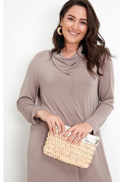 Alia Basic Elbise - Vizon