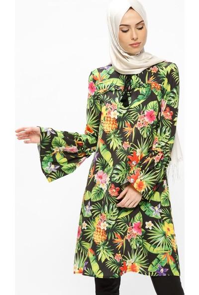 Miss Paye Desenli Tunik - Yeşil