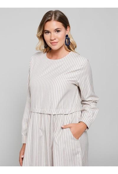 Alia Cep Detaylı Pamuklu Elbise - Vizon