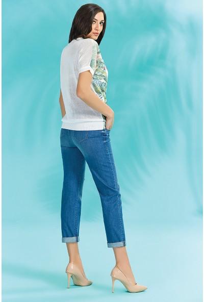 Guitar Kadın 18081 Mavi Kot Pantolon