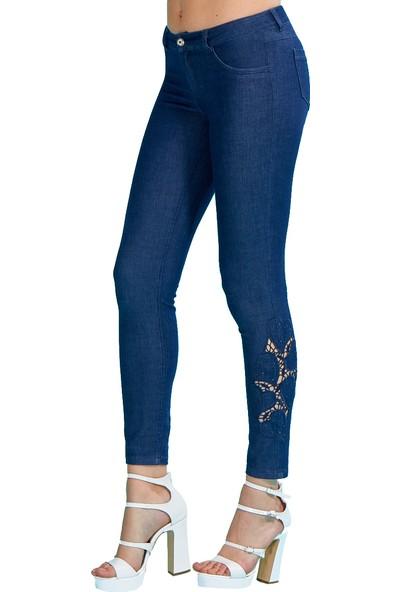 Guitar Kadın 18263-H Lacivert Pantolon