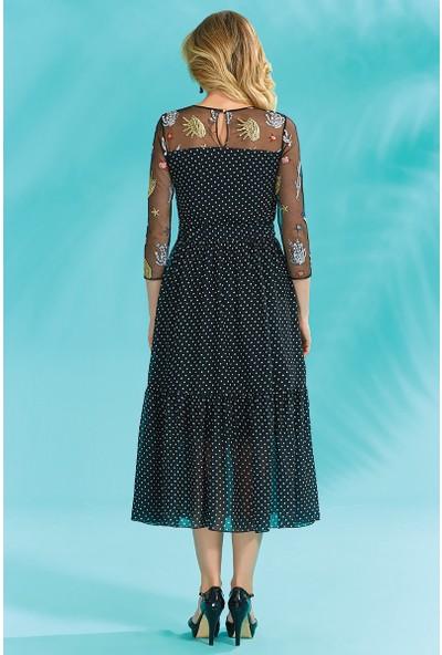 Guitar Kadın 18264 Siyah Elbise