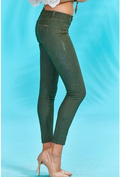 Guitar Kadın 18276-C Yeşil Kot Pantolon