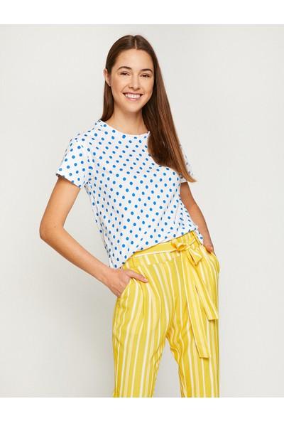 Koton Kadın Puantıyelı T-Shirt