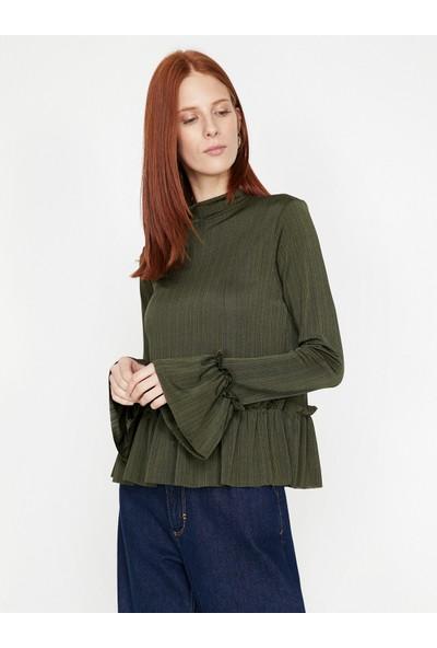 Koton Kadın Fırfır Detaylı T-Shirt