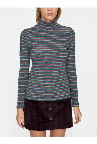 Koton Kadın Çizgilı T-Shirt